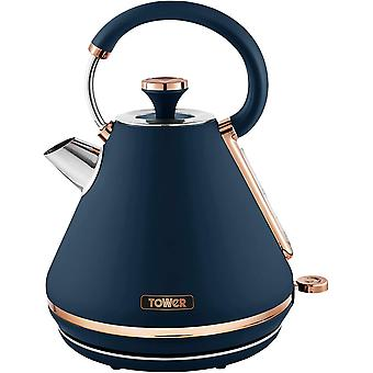Tower T10044MNB Cavaletto 1.7 Litre Pyramid Kettle with Rapid Boil, Detachable Filter, 3000W