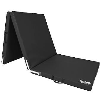 Komodo Tri Folding Yoga Mat - Black