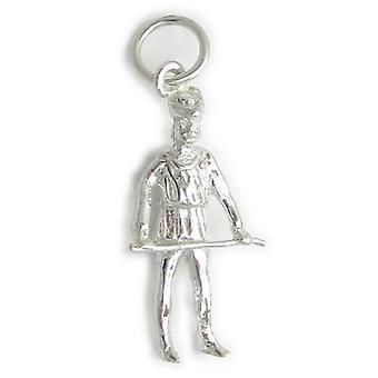 Little John - Robin Hoods Vriend Sterling Silver Charm .925 X 1 Merry Men - 4833