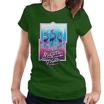 Miami Vice 3 Flamingos Women's T-Shirt