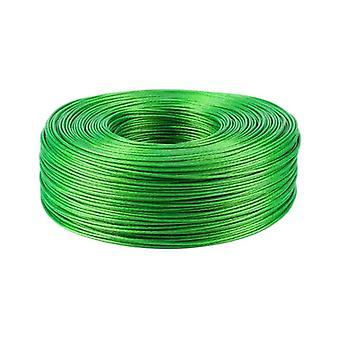 Oceľový zelený pvc potiahnutý flexibilný drôtený lanový kábel