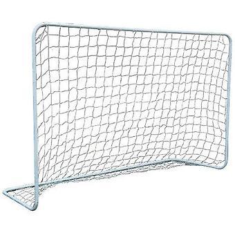 Fußball Tor weiß - 182x122x61cm - Nylonnetz + 4 Bodenanker