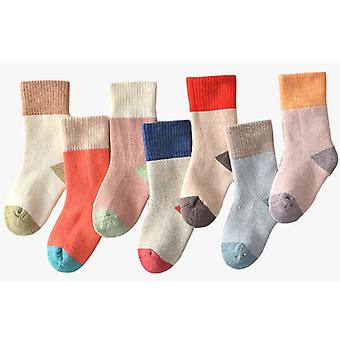 5 Pairs Non Slip Winter Terry Socks For Baby Boys
