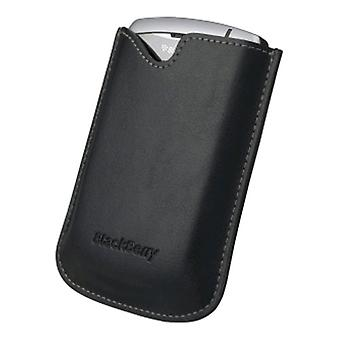 BlackBerry leather Pocket in Pouch Case for Curve 83XX Series - Black