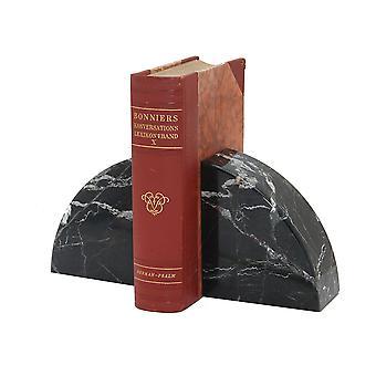Spura Home Vintage Cerasus Kokoelma Musta Seepra Marmori Pari Bookends