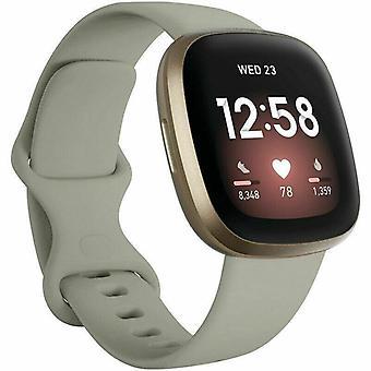 """a Fitbit Versa 3 / Sense csereszíj szilikon szalag karkötő csukló[Nagy illik csukló 7,2"""" - 8,7"""",Grey]"""