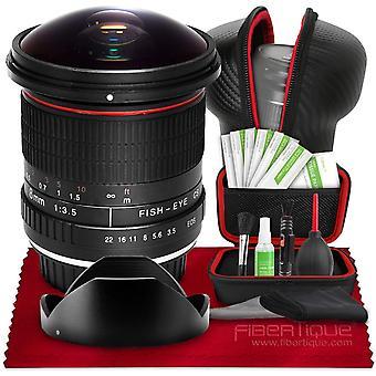 Vivitar 8mm f/3.5 professionell ultra vidvinkel aspherical fisheye lins för nikon d500 d3200 d3300 d3400 d5200 d5300 d5500 d5600 d7100