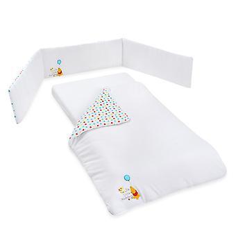 Disney White Winnie The Pooh Balloon Crib Sheets