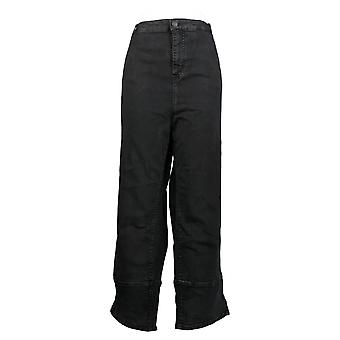 LOGO by Lori Goldstein Women's Plus Jeans Acid Wash Black A385104