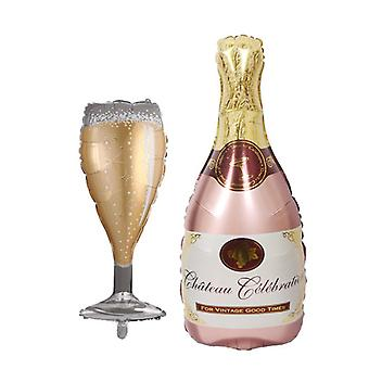 Big Helium Balloon Champagne Goblet Balloon Wedding Birthday Party Decorations Adult Kids Ballons Event Party Supplies