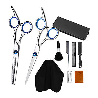 Haircut scissors straight snips thinning hairdressing barber tools lf7