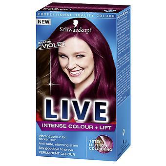 Schwarzkopf LIVE Intense Colour & Lift L76 Ultra Violet Pro Hair Colour Dye x 1