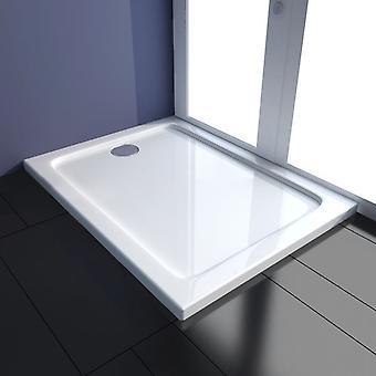 vidaXL Shower Cup ABS Rectangular 80×100 cm