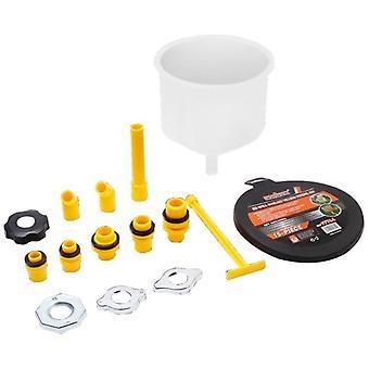 1 set- Embudo de plástico, aceite de derrame de pico, refrigerante de derrame, herramienta kit de llenado