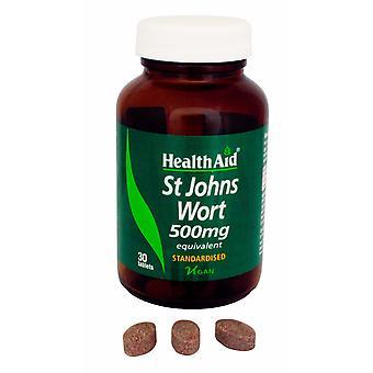 健康援助セントジョンズワート500mgのハイペリシン相当、30錠