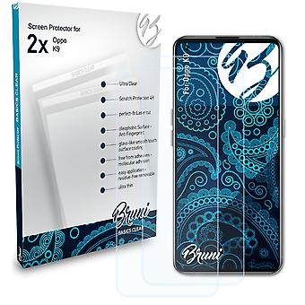 Bruni 2x Screen Protector compatible with Oppo K9 Protective Film