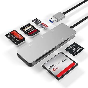 FengChun USB3.0 Kartenleser, 5-in-1 Aluminium USB 3.0 (5 GPS) Hochgeschwindigkeits TF/SD/MS / M2 /