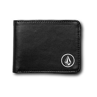 Volcom Corps PU Faux Leather Wallet in Black
