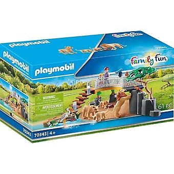 Family Fun Outdoor Lion Enclosure USA import