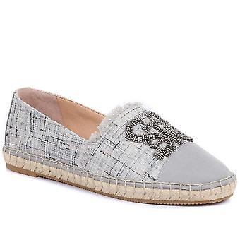Staccato Womens Cannes Embellished Espadrille Flats