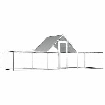vidaXL kippenhok 6x2x2 m gegalvaniseerd staal