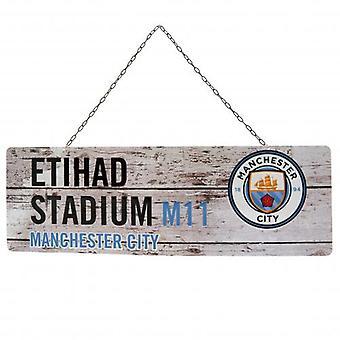 Manchester City Rustic Garden Sign