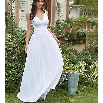 Dámske V-neck Chiffon Elegantné dlhé šaty