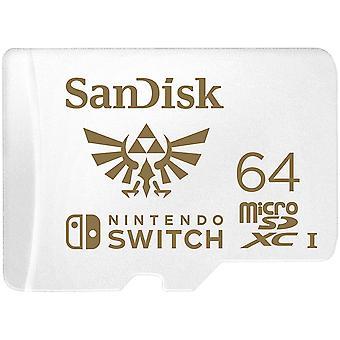 SanDisk 64 GB microSDXC-kort for Nintendo Switch