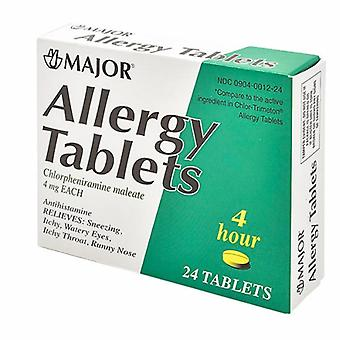 Major Pharmaceuticals Allergy Tablets, 4 mg, 24 Tabs