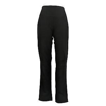 Kvinder med kontrol Kvinder's Bukser Reversibles Slim Leg Black A390045