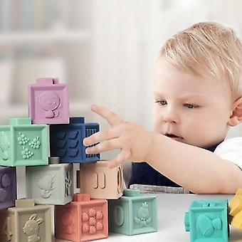 Pehmeä kumi 3D Touch Rakennuspalikat Purista lelu