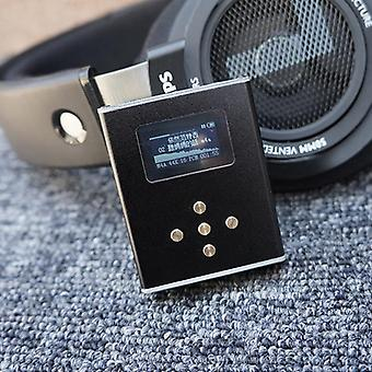 Chip Dsd Professional, Hifi Music Player, Headphone Amplifier With Oled Screen