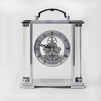 WM WIDDOP Glas & Silber Aluminium Schlittenuhr