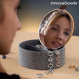 Bambus arrangør smykker boks med speil Mibox InnovaGoods
