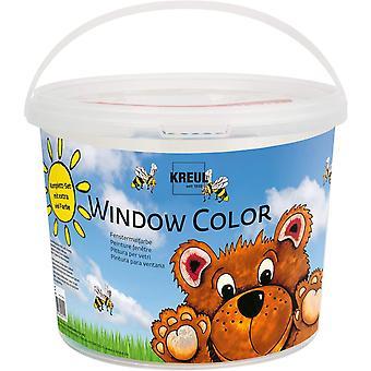 40151 - Window Color Power Pack Bär, für kleine und große Kreative, 7 x 125 ml Fensterfarben, 125 ml