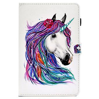 Case For Ipad 7 10.2 2019 Cover With Auto Sleep/wake Pattern Magnetic - Colored Horse