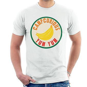 Curiosa maglietta da uomo Yum Yum Curious George Camp Curious Yum Yum