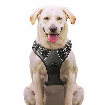 No Pull Dog Harness Small Black, Front Clip Vest Harness Dog Car Harnessses with Handle Puppy Chest