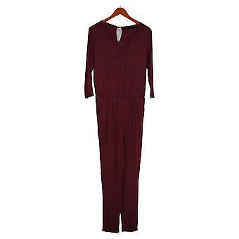 Colleen Lopez Jumpsuits Easy V-Neck Uit één stuk Rood 731991