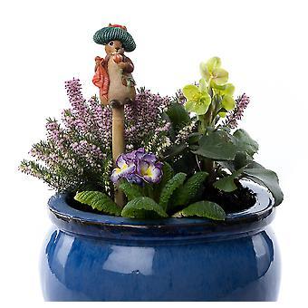 Cane Companions Beatrix Potter Benjamin Bunny Stake Topper Colorful Ornament