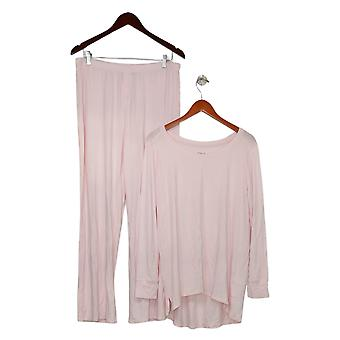 Soft & Cozy Women's Solid Long Sleeve Pajama Set Pink 627830