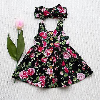 Autumn Long Sleeve -  Button Floralins Dress