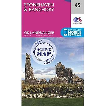 Stonehaven & Banchory (OS Landranger Actief)