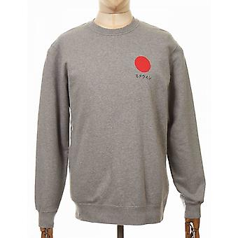 Edwin Jeans Japanese Sun Sweatshirt - Mid Grey Marl