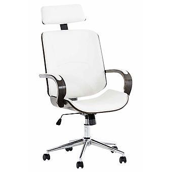 Chaise de bureau - Chaise de bureau - Bureau à domicile - Moderne - Blanc - Métal - 70 cm x 70 cm x 118 cm