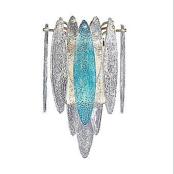 גופי תאורת קיר במסדרון מנורת קיר זכוכית כחולה שמיים מעבר חדר שינה ליד המיטה סלון סלון מנורת קיר רקע