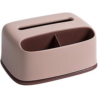 vev dispenser rektangulær vev dispenser boks med plast ansiktsvev dispenser boks kan lagre og plassere vev papirholder (rosa)