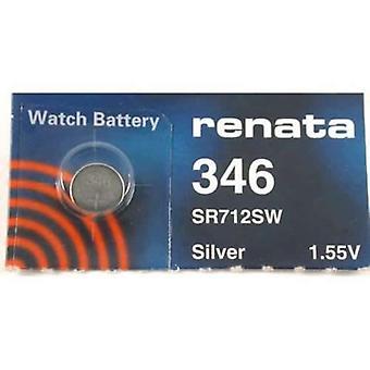 Renata Watch Battery 346 - Pack of 10 (SR712SW)