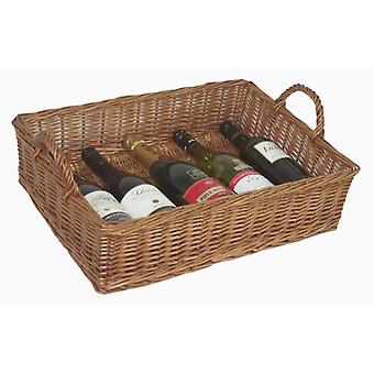 Large Wicker Rectangular Display Basket