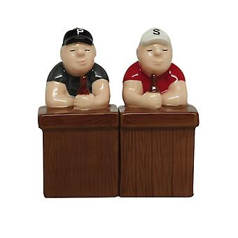 Beer Buddies Sitting at the Bar Salt and Pepper Shaker Set